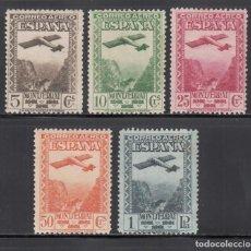 Sellos: ESPAÑA, 1931 EDIFIL Nº 650 / 654 /*/, CENTENARIO DE LA FUNDACIÓN DEL MONASTERIO DE MONTSERRAT.. Lote 271154438