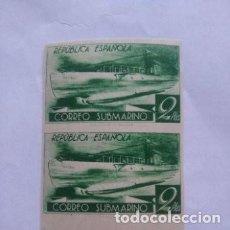 Sellos: ESPAÑA - 1938 - SUBMARINO - BLOQUE 2 - EDIFIL 776CCCS - MNH VALOR 184 €. Lote 271404868