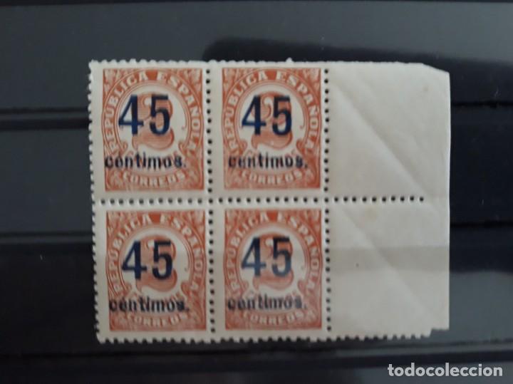 BLOQUE 4 EDIFIL 743 ** BORDE DE HOJA ESPAÑA REPUBLICA 1938 (Sellos - España - II República de 1.931 a 1.939 - Nuevos)