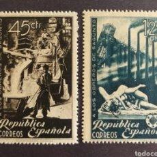 Selos: ESPAÑA N°773/74 MNH** OBREROS DE SAGUNTO 1938 (FOTOGRAFÍA REAL). Lote 275070743