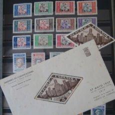 Sellos: ESPAÑA - PRIMER CENTENARIO - LOTE BENEFICENCIA - 1934 - 1937 - 1938 -.. Lote 275945163