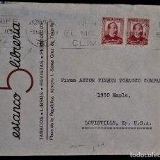 Sellos: SANTA CRUZ DE TENERIFE CANARIAS VIÑETA REVERSO 1935 SOBRE PUBLICITARIO ZORRILLA ESTANCO 5 LIBRERÍA. Lote 276147153