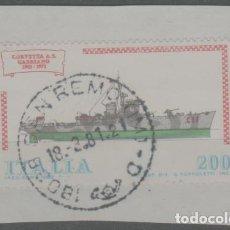 Sellos: LOTE X-MATA SELLOS ITALIA BARCO. Lote 277153413