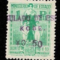 Sellos: CL8-3 GUERRA CIVIL MINISTERIO DE ESTADO DECRETO 6-XI-931 VALOR 1 PTA. COLOR VERDE USADO. Lote 277154838