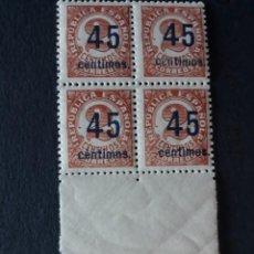 Sellos: BLOQUE 4 EDIFIL 743 ** BORDE HOJA ESPAÑA 1938. Lote 277257598