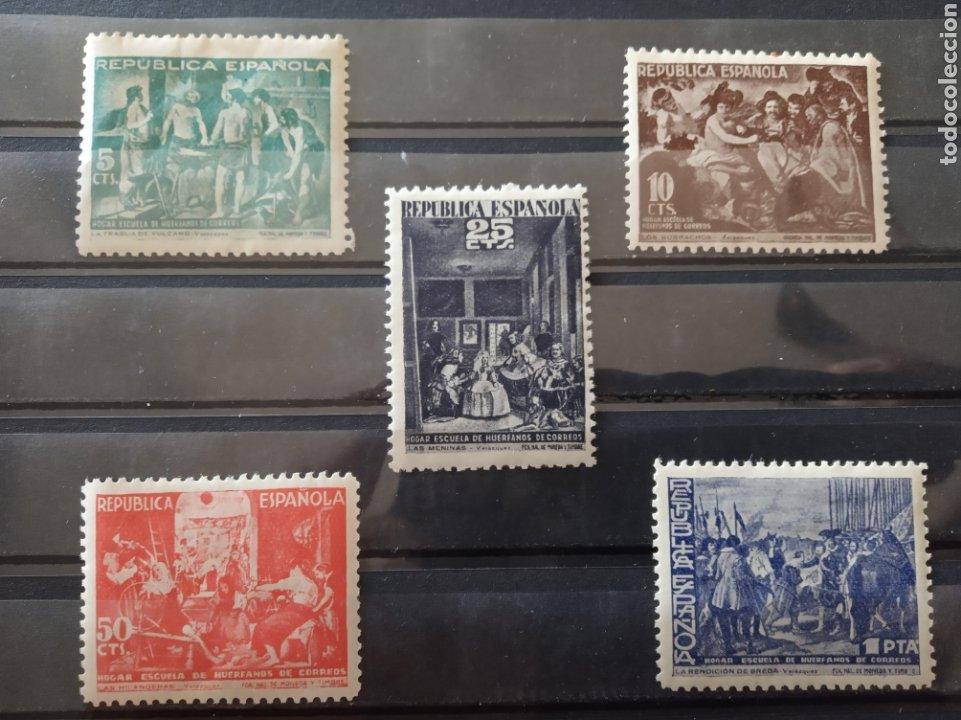ESPAÑA. HUÉRFANOS CORREOS. EDIFIL 29-33 ** (Sellos - España - II República de 1.931 a 1.939 - Nuevos)