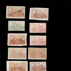 Sellos: CN-1-2 FISCALES CONJUNTO DE 12 SELLOS FISCALES AÑOS ALREDEDOR DE 1900. Lote 277600763