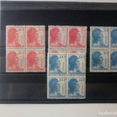 Sellos: ALEGORÍA DE LA REPUBLICA EN BL4 EDIFIL 751/754 DEL AÑO 1938 EN NUEVO **. Lote 278380338