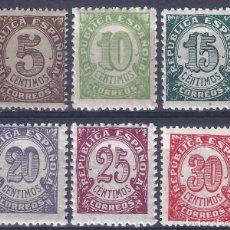 Sellos: EDIFIL 745-750 CIFRAS. 1938 (SERIE COMPLETA). MNH **. Lote 278575378