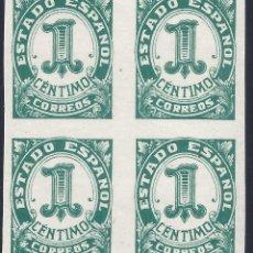 Sellos: EDIFIL 814 CIFRAS, CID E ISABEL 1937 (BLOQUE DE 4). MNH **. Lote 278586258