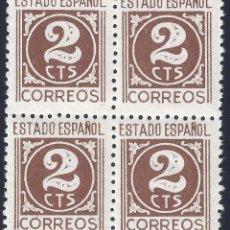 Sellos: EDIFIL 815 CIFRAS, CID E ISABEL 1937 (BLOQUE DE 4). MNH **. Lote 278586288