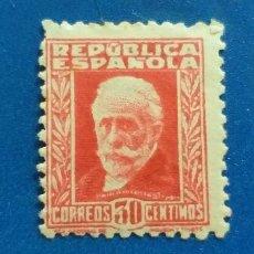 Sellos: NUEVO **. EDIFIL 669. II REPÚBLICA ESPAÑOLA. AÑO 1932. PERSONAJES Y MONUMENTOS. PABLO IGLESIAS.. Lote 280913718