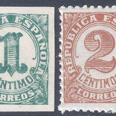 Sellos: EDIFIL 677-678 CIFRAS. 1933 ( SERIE COMPLETA). MNH **. Lote 284516668