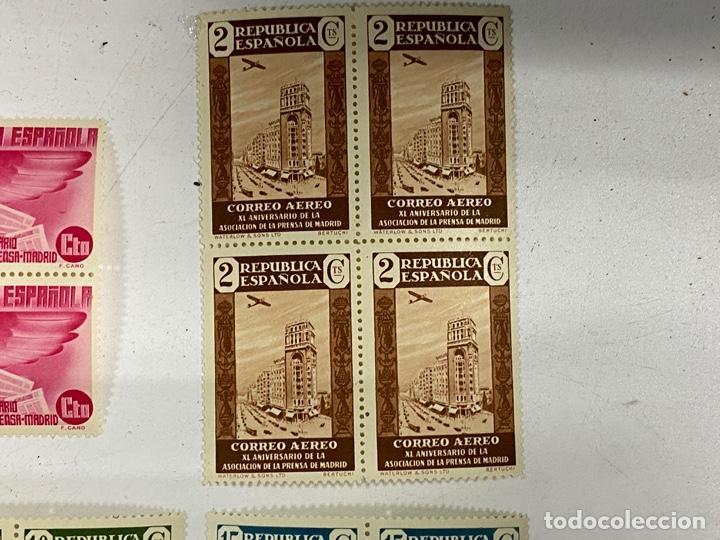 Sellos: ESPAÑA, 1936. EDIFIL 711/725. ASOCIACION PRENSA MADRID. NUEVOS. COMPLETA. BLOQUES DE 4. SIN CHARNELA - Foto 3 - 285367598