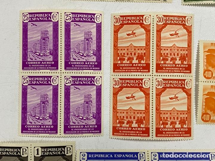 Sellos: ESPAÑA, 1936. EDIFIL 711/725. ASOCIACION PRENSA MADRID. NUEVOS. COMPLETA. BLOQUES DE 4. SIN CHARNELA - Foto 7 - 285367598
