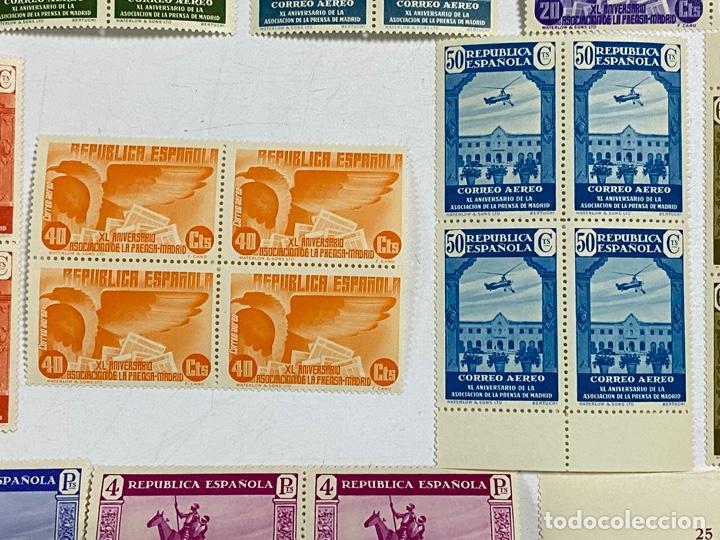 Sellos: ESPAÑA, 1936. EDIFIL 711/725. ASOCIACION PRENSA MADRID. NUEVOS. COMPLETA. BLOQUES DE 4. SIN CHARNELA - Foto 8 - 285367598