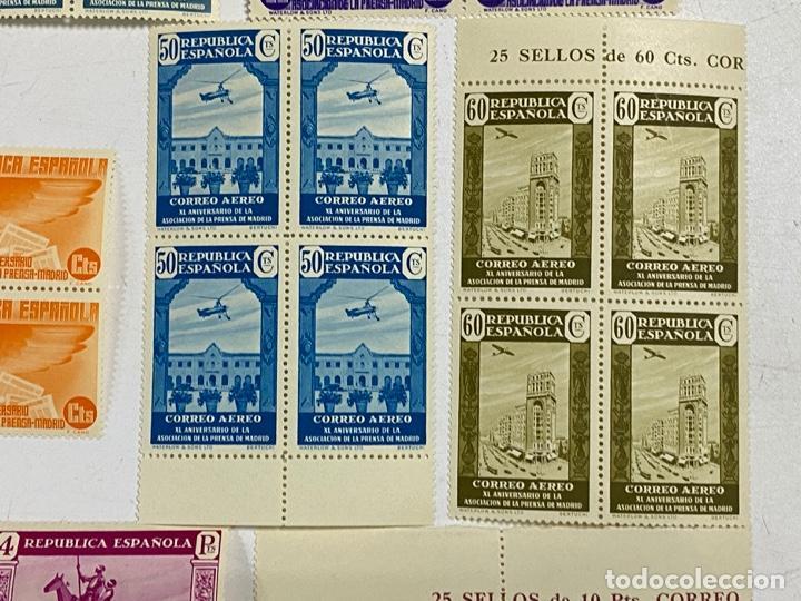 Sellos: ESPAÑA, 1936. EDIFIL 711/725. ASOCIACION PRENSA MADRID. NUEVOS. COMPLETA. BLOQUES DE 4. SIN CHARNELA - Foto 9 - 285367598