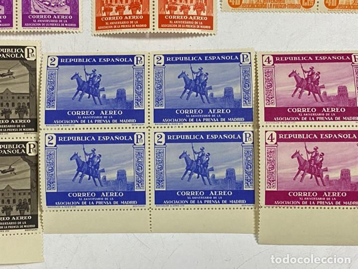 Sellos: ESPAÑA, 1936. EDIFIL 711/725. ASOCIACION PRENSA MADRID. NUEVOS. COMPLETA. BLOQUES DE 4. SIN CHARNELA - Foto 11 - 285367598