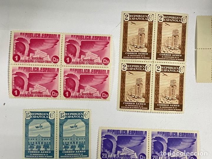 Sellos: ESPAÑA, 1936. EDIFIL 711/725. ASOCIACION PRENSA MADRID. NUEVOS. COMPLETA. BLOQUES DE 4. SIN CHARNELA - Foto 2 - 285368443