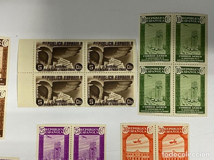 Sellos: ESPAÑA, 1936. EDIFIL 711/725. ASOCIACION PRENSA MADRID. NUEVOS. COMPLETA. BLOQUES DE 4. SIN CHARNELA - Foto 3 - 285368443