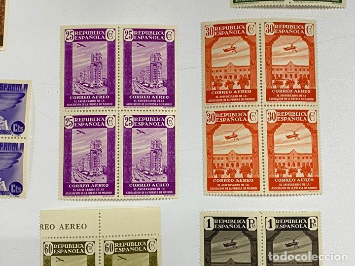 Sellos: ESPAÑA, 1936. EDIFIL 711/725. ASOCIACION PRENSA MADRID. NUEVOS. COMPLETA. BLOQUES DE 4. SIN CHARNELA - Foto 5 - 285368443