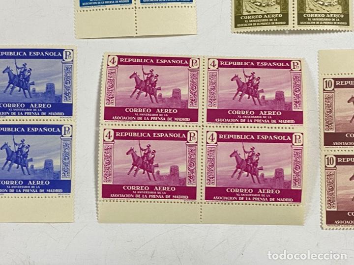 Sellos: ESPAÑA, 1936. EDIFIL 711/725. ASOCIACION PRENSA MADRID. NUEVOS. COMPLETA. BLOQUES DE 4. SIN CHARNELA - Foto 9 - 285368443