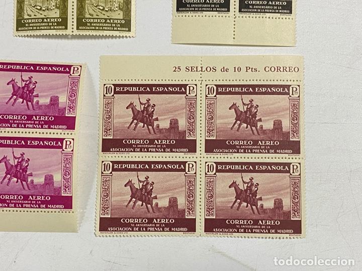 Sellos: ESPAÑA, 1936. EDIFIL 711/725. ASOCIACION PRENSA MADRID. NUEVOS. COMPLETA. BLOQUES DE 4. SIN CHARNELA - Foto 10 - 285368443