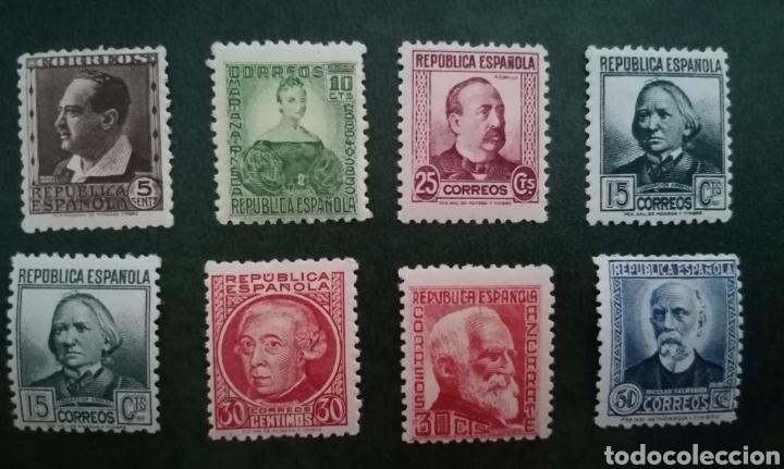 ESPAÑA 1933-1935 PERSONAJES - EDIFIL 681/688 NUEVOS SIN CHARNELA MNH (Sellos - España - II República de 1.931 a 1.939 - Nuevos)