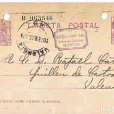 Sellos: TARJETA POSTAL MATRONA. REPÚBLICA ESPAÑOLA 15C. VALENCIA FEB1935. Lote 287159468