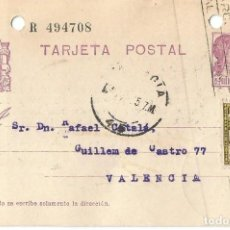 Sellos: TARJETA POSTAL AYUN BARNA 5 CS .MATRONA REPÚBLICA ESPAÑOLA 15C 1935. Lote 287166103