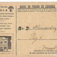 Sellos: TARJETA POSTAL CASALS REPÚBLICA ESPAÑOLA 2 CENTS. BLASCO IBÁÑEZ 1932. Lote 287166738
