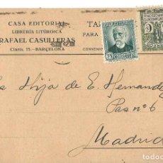 Sellos: TARJETA POSTAL BARCELONA- NICOLAS SALMERÓN 15CS. AYUN. BARNA 5CS. BARCELONA 1932. Lote 287167018