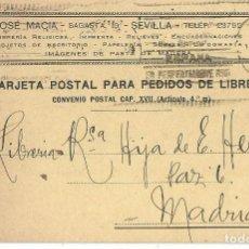 Sellos: TARJETA POSTAL SEVILLA JOSE MACIA. REPÚBLICA ESPAÑOLA 5 CÉNTIMOS FRANCISCO PI Y MARGALL 1933. Lote 287167048