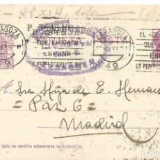 Sellos: TARJETA POSTAL ZARAGOZA MATRONA REPÚBLICA ESPAÑOLA 15 CS ZARAGOZA 1933. Lote 287167123