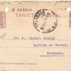 Sellos: TARJETA POSTAL MATRONA REPÚBLICA ESPAÑOLA 5C. VALENCIA 1935. Lote 287167988
