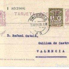 Sellos: TARJETA POSTAL AYUN. BARNA CS MATRONA. REPÚBLICA ESPAÑOLA 15C NOV1935. Lote 287208218