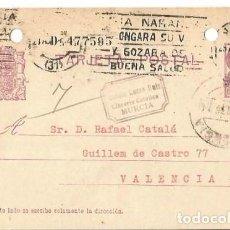 Sellos: TARJETA POSTAL MATRONA REPÚBLICA ESPAÑOLA. MURCIA 1935. Lote 287208288