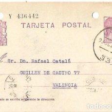 Sellos: TARJETA POSTAL MATRONA REPÚBLICA ESPAÑOLA 15C. VALENCIA OCT1934. Lote 287344238