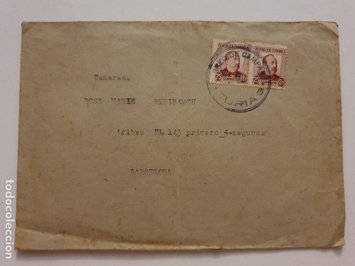 REPÚBLICA - CORREO DE CAMPAÑA - C.G. TURIA 3 (Sellos - España - II República de 1.931 a 1.939 - Cartas)
