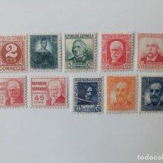 Sellos: REPUBLICA ESPAÑOLA SERIE COMPLETA DEL AÑO 1936 EDIFIL 731/740 EN NUEVO**. Lote 287593598