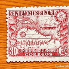 Timbres: 1935, EXPEDICIÓN AL AMAZONAS, EDIFIL 694, NUEVO CON FIJASELLOS. Lote 287628588