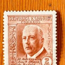 Timbres: 1936, ASOCIACIÓN DE LA PRENSA, EDIFIL 696, NUEVO CON FIJASELLOS. Lote 287628773