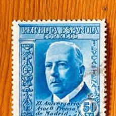 Sellos: 1936, ASOCIACIÓN DE LA PRENSA, EDIFIL 704, NUEVO CON FIJASELLOS. Lote 287629038