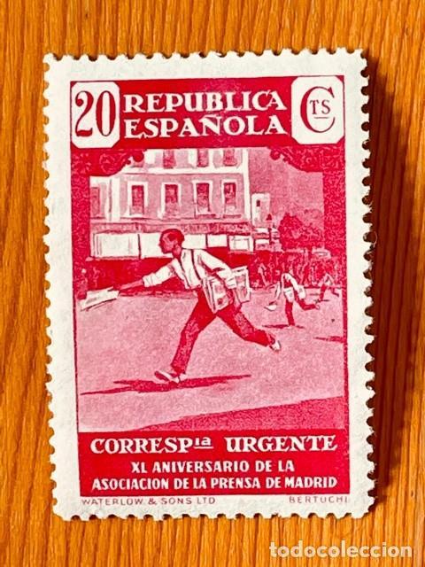 1936, ASOCIACIÓN DE LA PRENSA, EDIFIL 710, NUEVO (Sellos - España - II República de 1.931 a 1.939 - Nuevos)