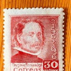 Sellos: 1937, MUERTE DE GREGORIO FERNANDEZ, EDIFIL 726, NUEVO CON FIJASELLOS. Lote 287629333