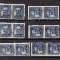 Timbres: FC3-207- SALVOECHEA REPUBLICA EDIFIL 739 X 12 SELLOS EN PAREJA. VARIEDAD COLOR ** SIN FIJASELLOS. Lote 287635668