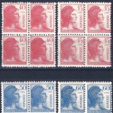 Sellos: EDIFIL 751-754 ALEGORÍA DE LA REPÚBLICA 1938 (SERIE COMPLETA EN BLOQUES DE 4). MNH**. Lote 287814403