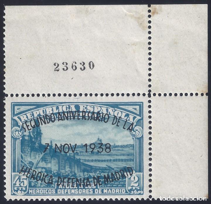EDIFIL 789 II ANIVERSARIO DE LA DEFENSA DE MADRID 1938 (VARIEDADES EN LA SOBRECARGA). LUJO. MNH ** (Sellos - España - II República de 1.931 a 1.939 - Nuevos)