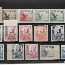 Sellos: ESPAÑA 1937, EDIFIL 814/31S. 17 VALORES COMPLETA SIN DENTAR. MNH.. Lote 288513283