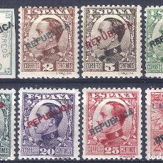Sellos: EMISIONES LOCALES REPUBLICANAS. MADRID 1931. EDIFIL 1-8. MLH. LUJO. (SALIDA: 0,01 €).. Lote 288738603